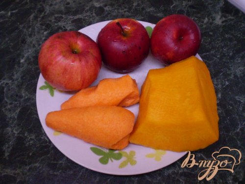 Яблочно-морковно-тыквенный фрэш