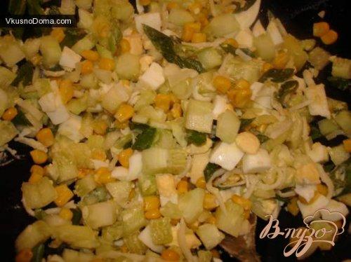 Салат с сушеными кальмарами № 2