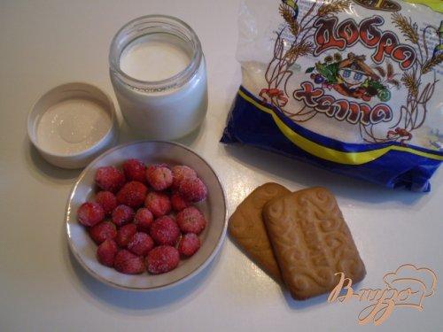 Йогуртный десерт с печеньем