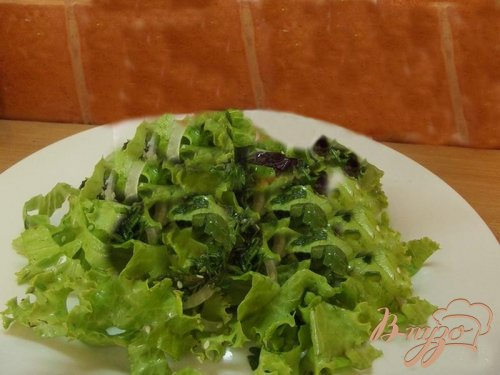 Французский салат из зелени