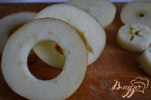 Яблоки с ветчиной и сыром
