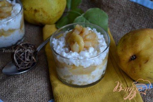 Молочный рис с карамелизированными фруктами