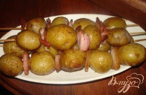 Картофельные шашлычки