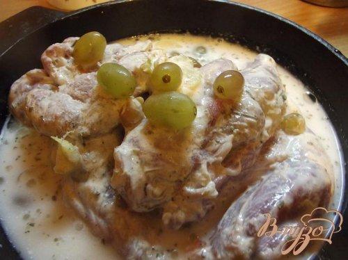 Телятина в маринаде из винограда