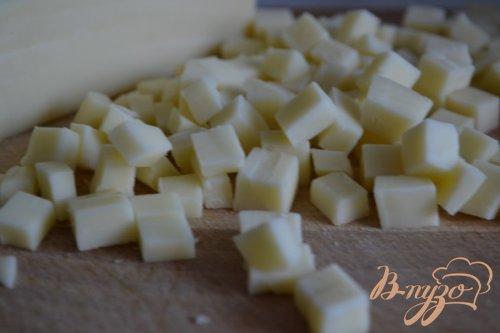 Овощной салат с  сыром и мятой