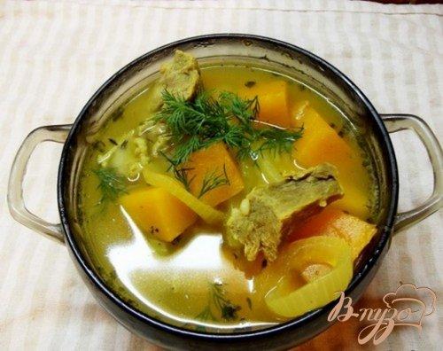 Суп из тыквы с маслом