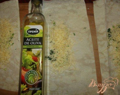 Лаваш с овощами и сыром