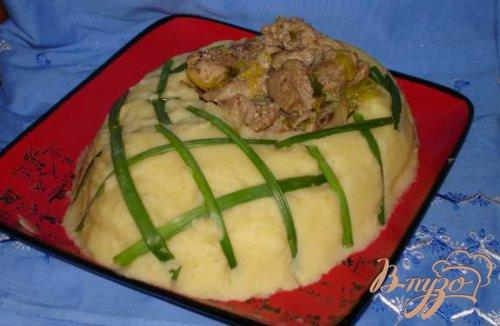 Картофельный башмак с имбирным мясом