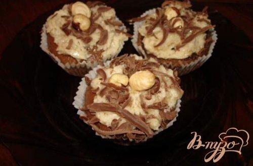 Шоколадные маффины с кремом Тоффи