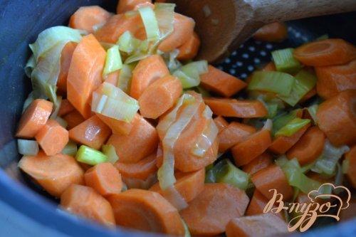 Морковный суп-пюре с горохом нут