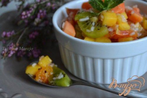 Фруктовый салат с рисом