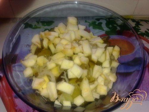 Картофельный салат с яблоком