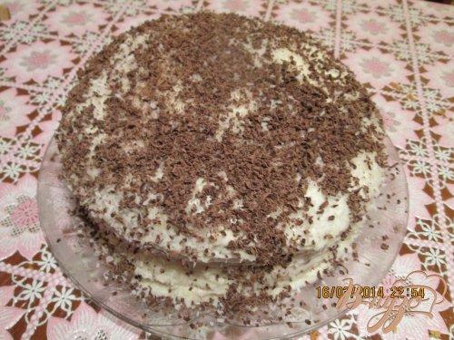 Бисквитный торт с сметаным кремом