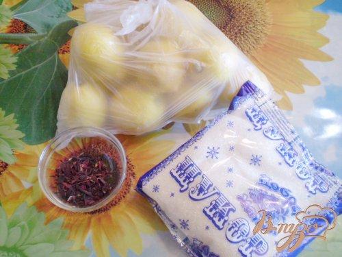Лимонный компот с суданской розой