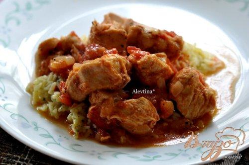 Тушеная курица по- мексикански