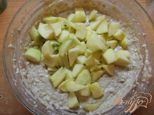Пирог овсяный с яблоками