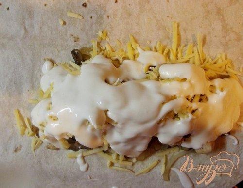 Куриная шаурма с картофелем и грибами