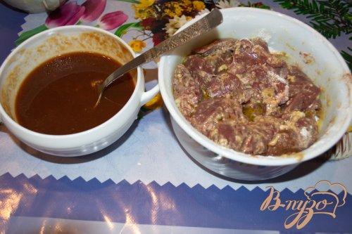 Печень куриная с томатном соусе
