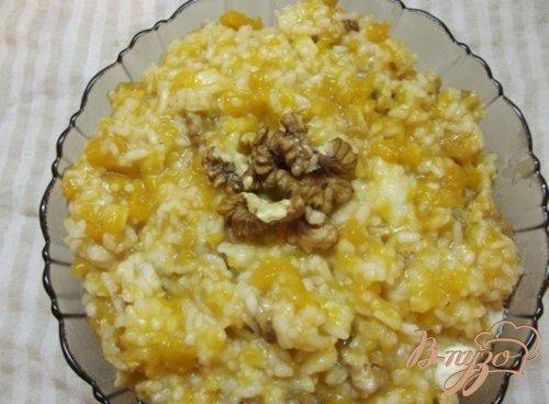 Медовый рис с тыквой и орехами