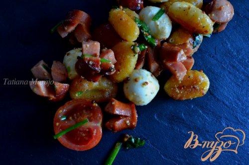 Теплый салат с ньокками