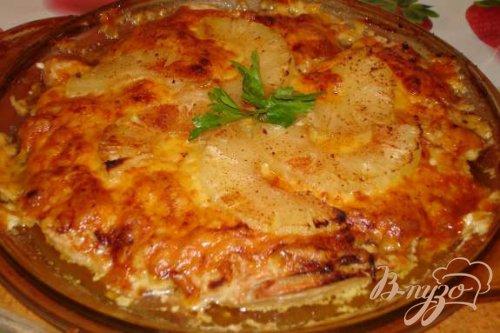Запеченое куриное филе с ананасом