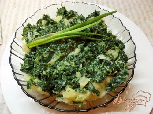 Картофель с листовой зеленью