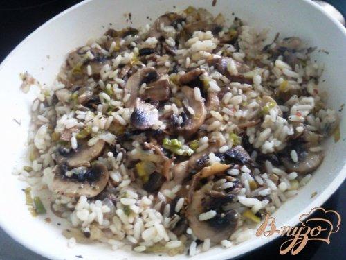 Рис с грибами под сыром
