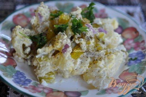 Картофельный салат со сладкими огурчиками