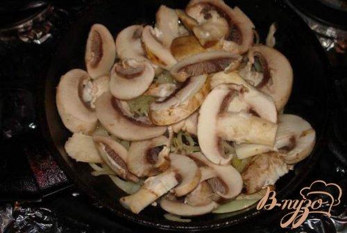 Сухарики с грибами