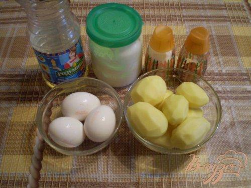Картофель с яично-сметанной заливкой в мультиварке