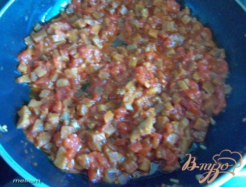 Фарфа́лле с баклажанами в томатном соусе