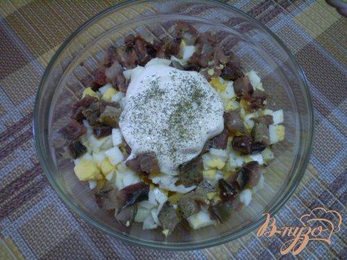 Картофельный салат с копченой иваси