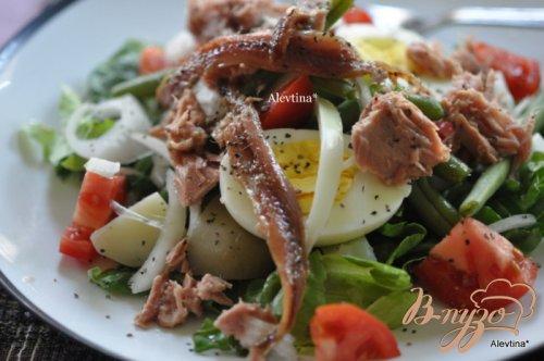 Здоровый салат Нисуаз-Niçoise