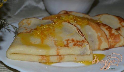 Творожно-апельсиновые блинчики с апельсино-шоколадным соусом