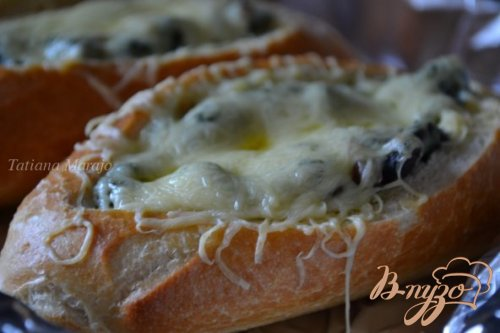 Горячие бутерброды со шпинатом и ветчиной