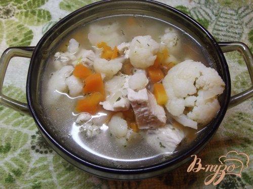 Суп из цветной капусты с тимьяном