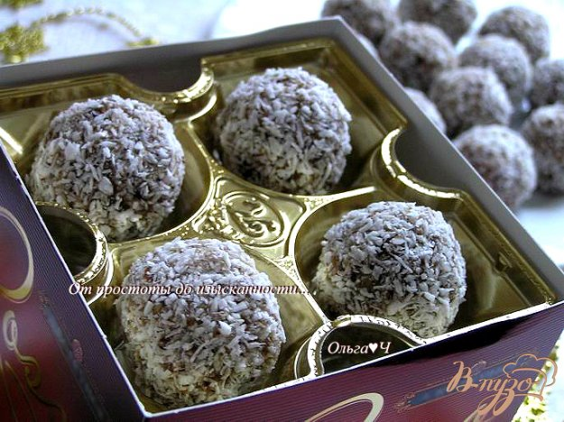 Рецепт Конфеты из фиников с лесными орехами