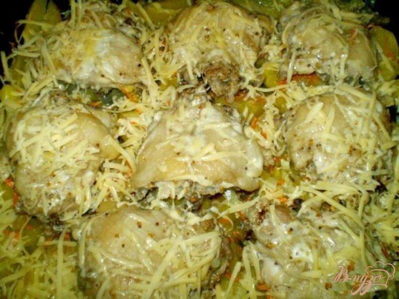 Фото приготовление рецепта: Куриные спинки с картофелем шаг №6