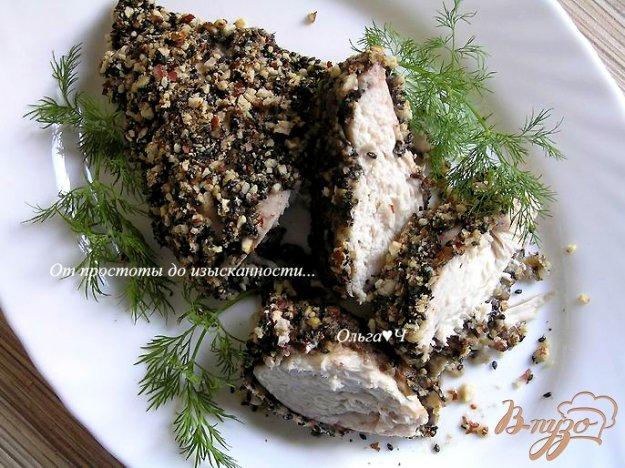 Рецепт Куриные грудки в ореховой панировке с кунжутом