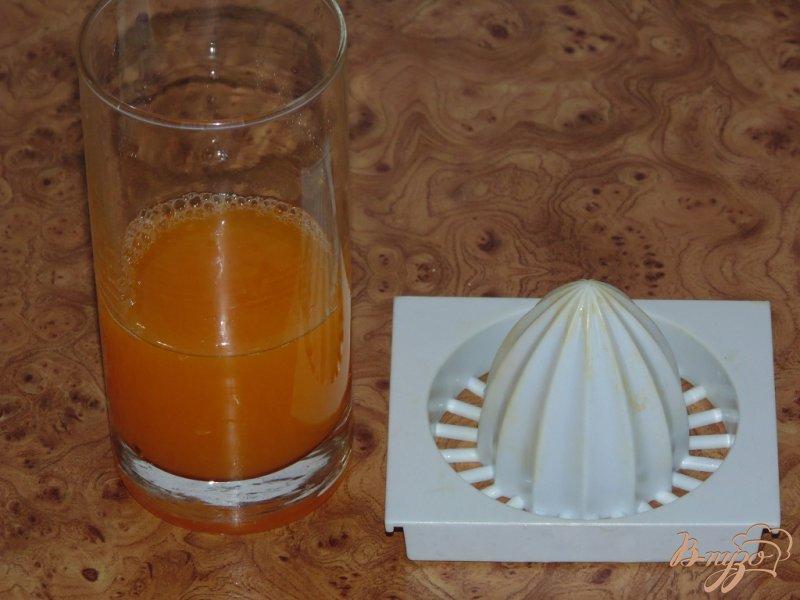 Фото приготовление рецепта: Мандариновый смузи с хурмой шаг №3