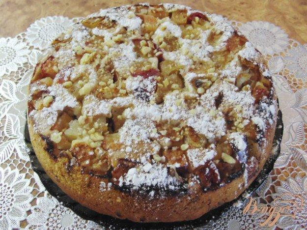 Рецепт Пирог яблочный с грецкими орехами