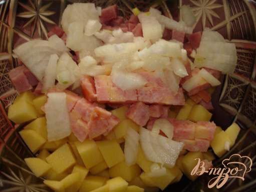 Фото приготовление рецепта: Кафтанчики с картошкой шаг №3