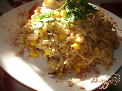 фото рецепта: Паєлья с курицей и грибами