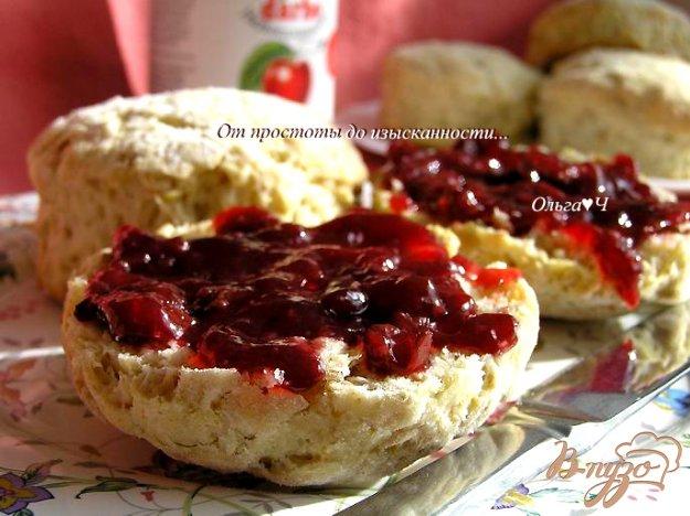 Рецепт Злаковые сконы с вишневым конфитюром