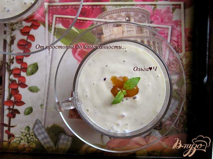 Фото приготовление рецепта: Фруктовый тофу-смузи с абрикосовым конфитюром шаг №3