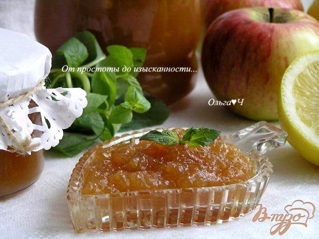 Рецепт Яблочный джем с мятным сиропом (в мультиварке)