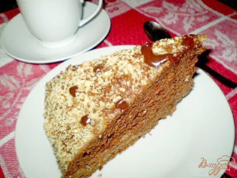 Фото приготовление рецепта: Пирог со сметанно-ванильной пропиткой шаг №7