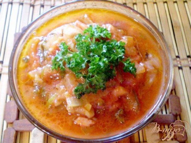 Рецепт Подливка томатная с жареными огурцами