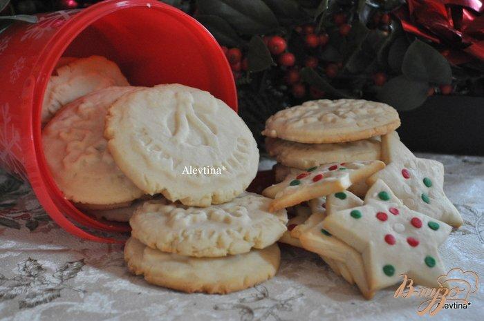 Фото приготовление рецепта: Печенье ванильное шаг №4