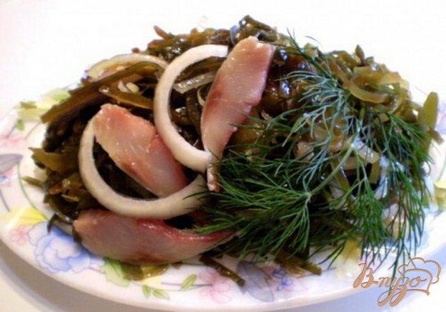 Рецепт Салат из морской капусты с сельдью